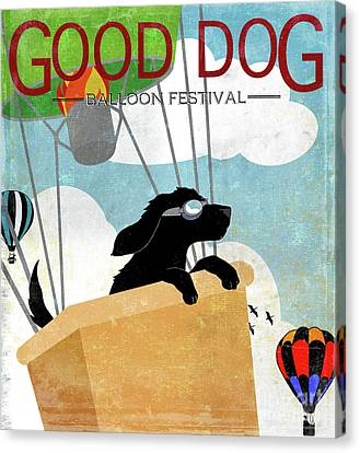 Good Dog Hot Air Balloon Festival Dogs In Flight Canvas Print