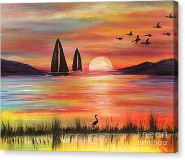 Canvas Print featuring the painting Good Eveving by Denise Tomasura