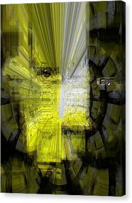 Canvas Print featuring the digital art Good  Evil by Fania Simon