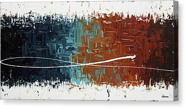 Canvas Print featuring the painting Good Feeling - Abstract Art by Carmen Guedez