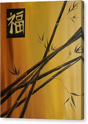 Good Fortune Bamboo 1 Canvas Print