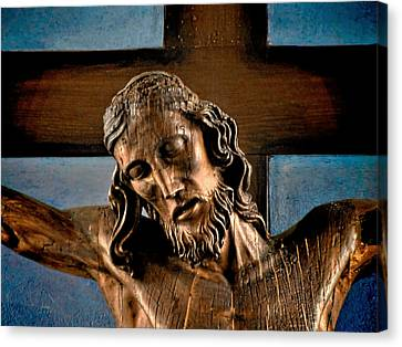 Crucifix Art Canvas Print - Good Friday Jesus On The Cross by Christine Till