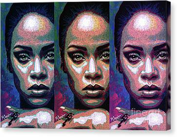 Good Girl Gone Bad Canvas Print by Maria Arango