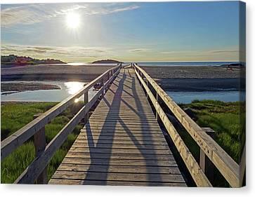 Good Harbor Beach Footbridge Sunny Shadow Canvas Print by Toby McGuire