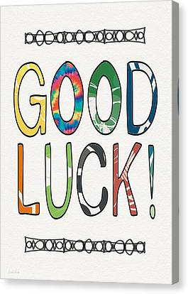 Good Luck Card- Art By Linda Woods Canvas Print by Linda Woods