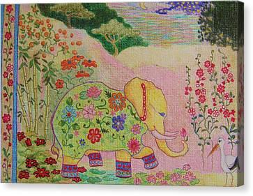 Good Luck Elephant  Canvas Print