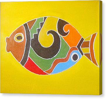 Good Luck Fish Canvas Print by Xafira Mendonsa