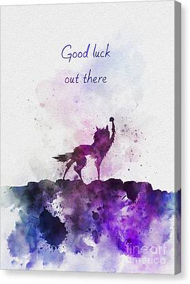 Good Luck Out There Canvas Print by Rebecca Jenkins