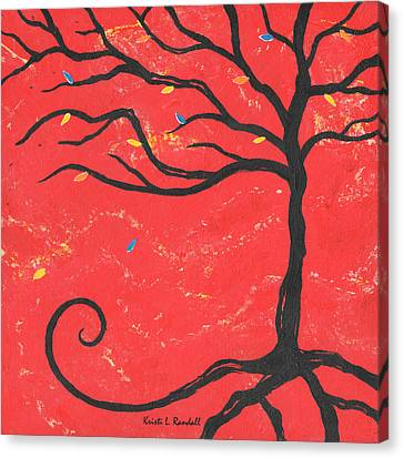 Good Luck Tree - Right Canvas Print by Kristi L Randall