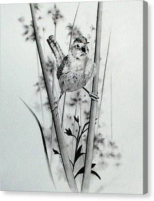 Meadowlark Canvas Print - Good Mornin by Stan White