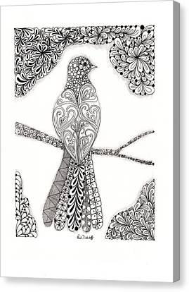 Good Morning Birdie Canvas Print by Paula Dickerhoff