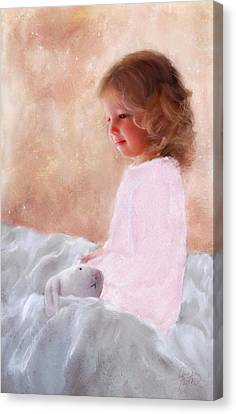 Good Morning Bunnie Canvas Print by Colleen Taylor