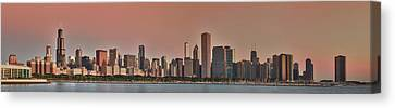 Good Morning Chicago Panorama Canvas Print by Sebastian Musial