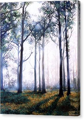 Canvas Print featuring the painting Good Morning by Chonkhet Phanwichien