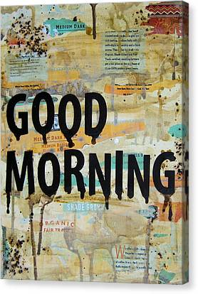 Good Morning Coffee Collage 9x12 Canvas Print by Michelle Eshleman