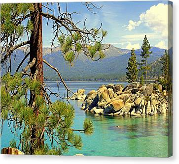 Canvas Print featuring the photograph Good Morning From Lake Tahoe by Lynn Bawden