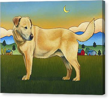 Golden Lab Canvas Print - Good Morning Hancho by Stacey Neumiller
