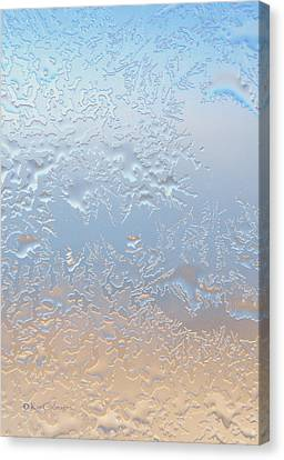 Canvas Print featuring the photograph Good Morning Ice by Kae Cheatham