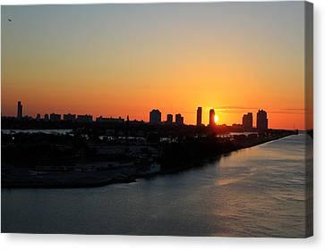 Good Morning Miami Canvas Print by Shelley Neff