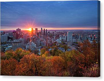 Good Morning Montreal Canvas Print by Mircea Costina Photography