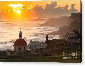 Good Morning San Juan Canvas Print by Ernesto Ruiz