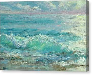 Good Morning Surf Canvas Print by Barbara Hageman