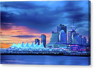 Canvas Print featuring the photograph Good Morning Vancouver by John Poon