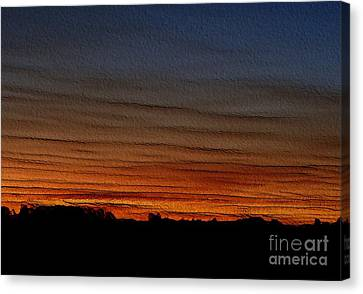 Canvas Print featuring the photograph Good Night - Embossed by Erica Hanel