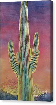 Good Night Cactus Wren Canvas Print