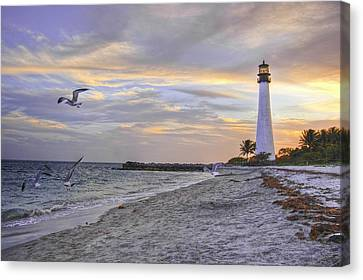 Good Night Cape Florida Lighthouse Canvas Print by Photo taken by Crawford A. Wilson III