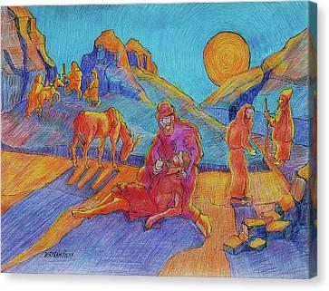 Good Samaritan Parable Painting Bertram Poole Canvas Print
