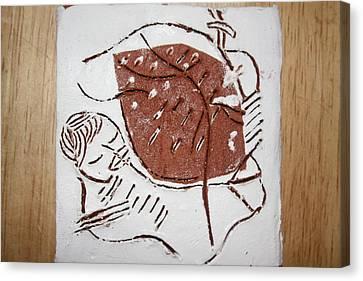 Good Shepherd - Tile Canvas Print by Gloria Ssali