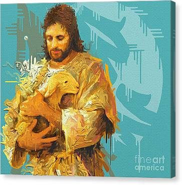 Good Shepherd Canvas Print by Kegya Art Gallery