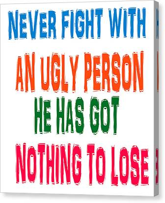 Masters Winners Canvas Print - Good Ugly Bad Wisdom Quote by Navin Joshi