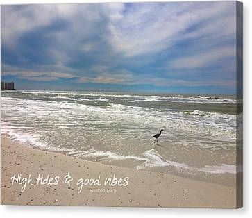Canvas Print featuring the painting Good Vibes by Tom Roderick