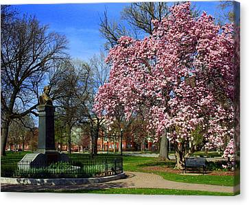 Goodale Park In The Spring Canvas Print by Laurel Talabere