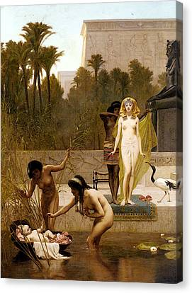 Goodall Frederik The Finding Of Moses Canvas Print by Frederick Goodall