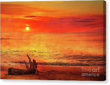 Canvas Print featuring the digital art Goodbye Day by Randy Steele