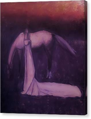 Canvas Print featuring the painting Goodbye Purple Rain by Jarko Aka Lui Grande
