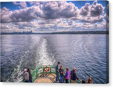Goodbye Seattle Canvas Print by Spencer McDonald