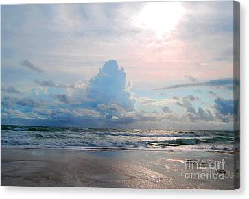 Canvas Print featuring the photograph Goodbye Storm by Linda Mesibov