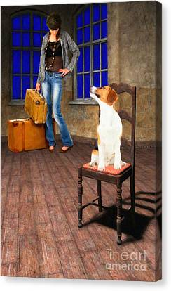 Goodbyes Aren't Easy Canvas Print by Liane Wright