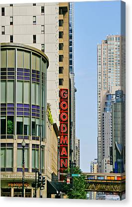 Goodman Memorial Theatre Chicago Canvas Print by Christine Till