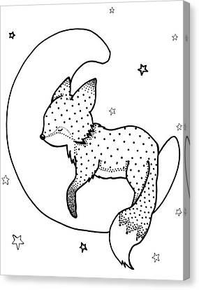 Goodnight Fox Canvas Print by Hilari Alsip