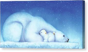 Arctic Bears, Goodnight Nanook Canvas Print