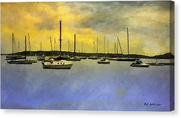 Goodnight, Nantucket Canvas Print by RC deWinter