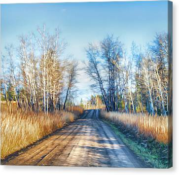 Canvas Print featuring the photograph Goose Lake Road by Theresa Tahara
