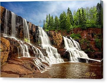 Canvas Print featuring the photograph Gooseberry Falls by Rikk Flohr