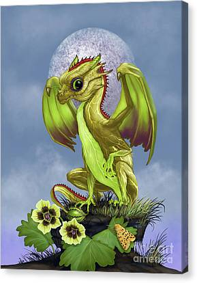 Canvas Print featuring the digital art Gooseberry Dragon by Stanley Morrison
