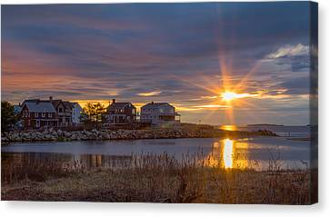 Goosefare Brook Sunrise - Saco Maine Canvas Print by Kirkodd Photography Of New England